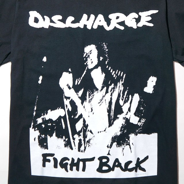 DISCHARGE(ディスチャージ) Tシャツ Fight Back-Black