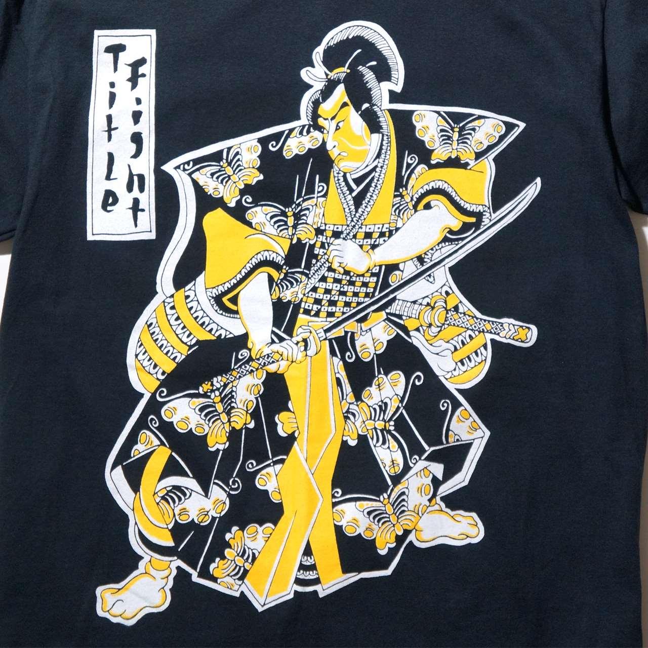 TITLE FIGHT Tシャツ Samurai-Black