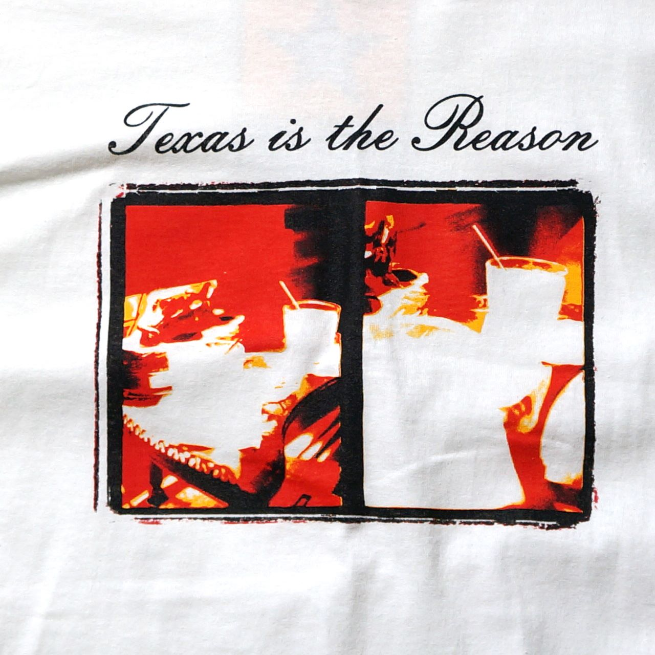TEXAS IS THE REASON Tシャツ LP Cover-White