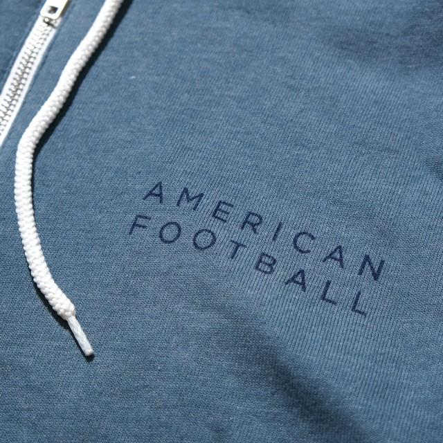 American Football ジップアップ・パーカー Red Sun- Heather Slate