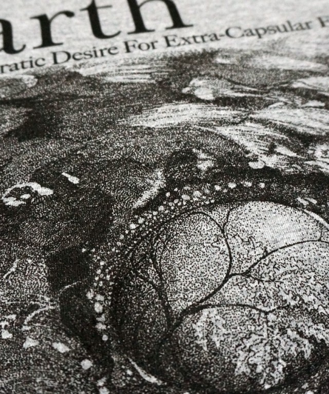 EARTH(アース)バンドTシャツ A Bureaucratic Desire For Extra-Capsular Extraction-GRY
