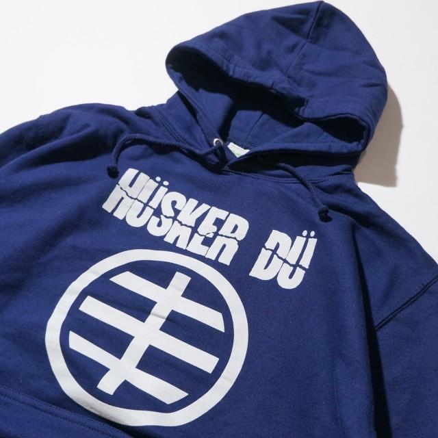 HUSKER DU パーカー Circle Logo-Navy