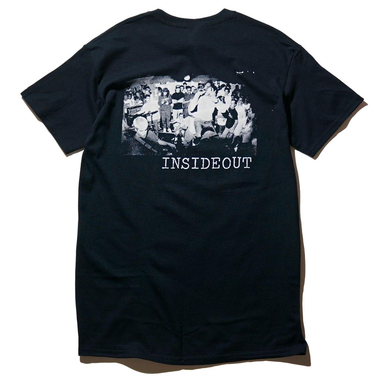 INSIDE OUT Tシャツ Logo-Black