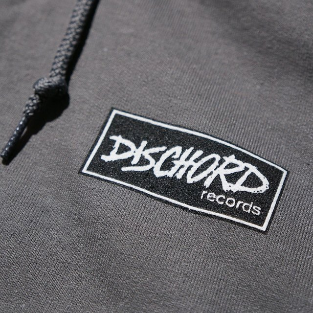 Dischord Records パーカー Box Logo - Charcoal