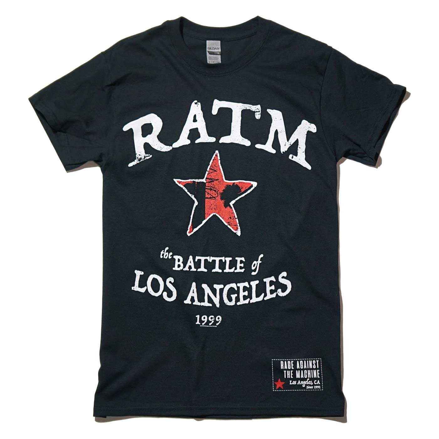 RAGE AGAINST THE MACHINE Tシャツ Battle Star-Black