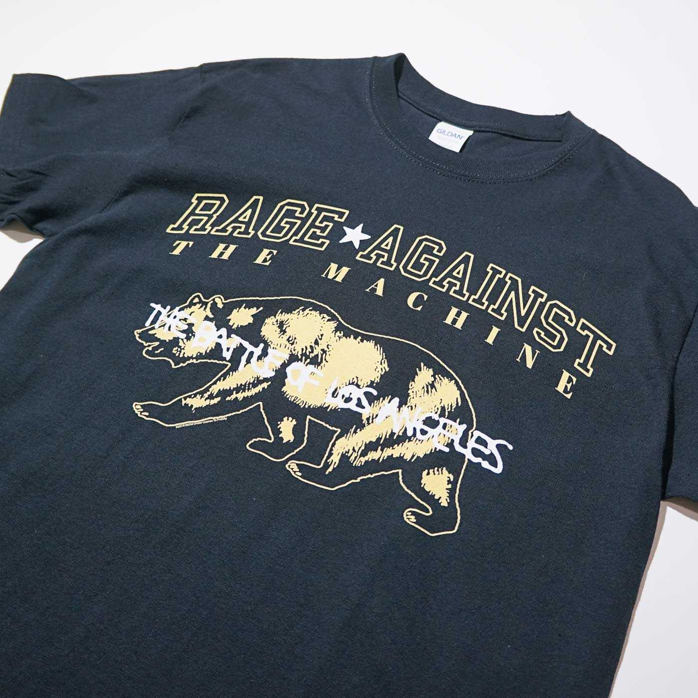 RAGE AGAINST THE MACHINE Tシャツ Cali Bear-Black