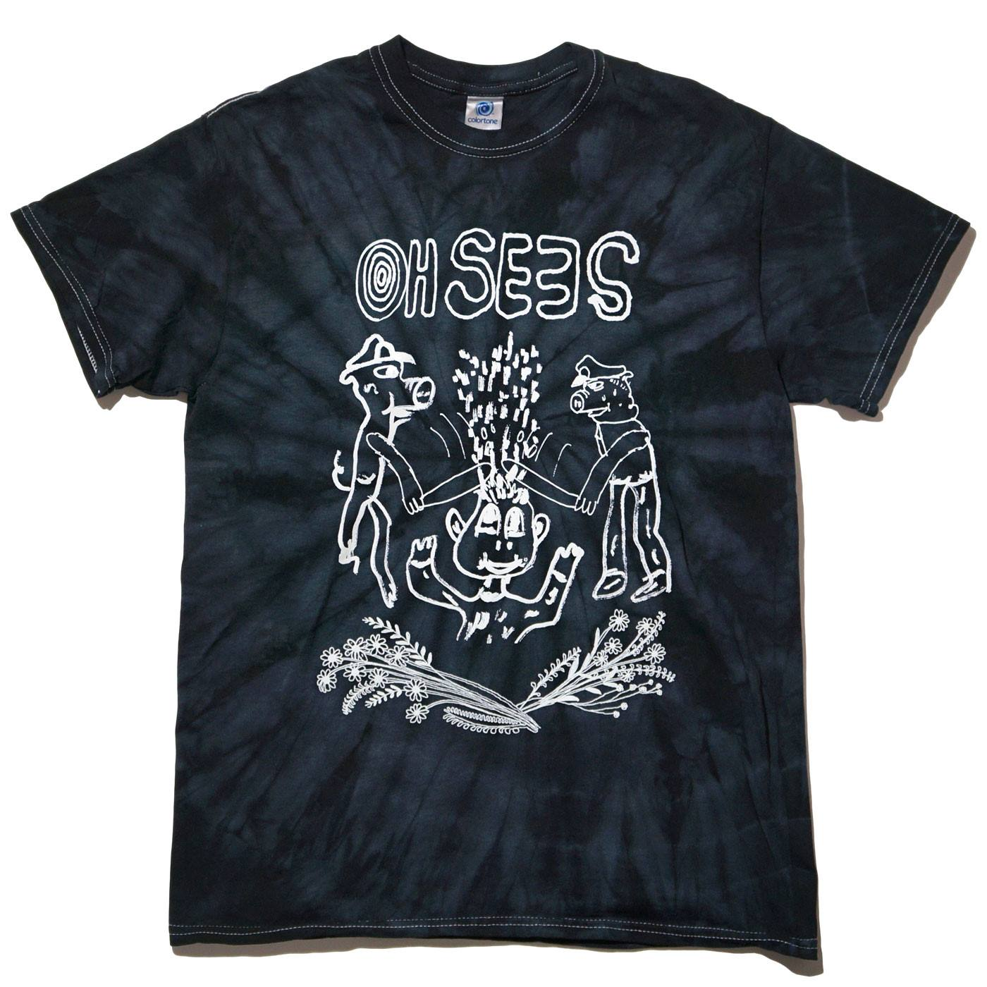 Oh Sees Tシャツ Joe Roberts/Pigs Tee - Black Tie Dye