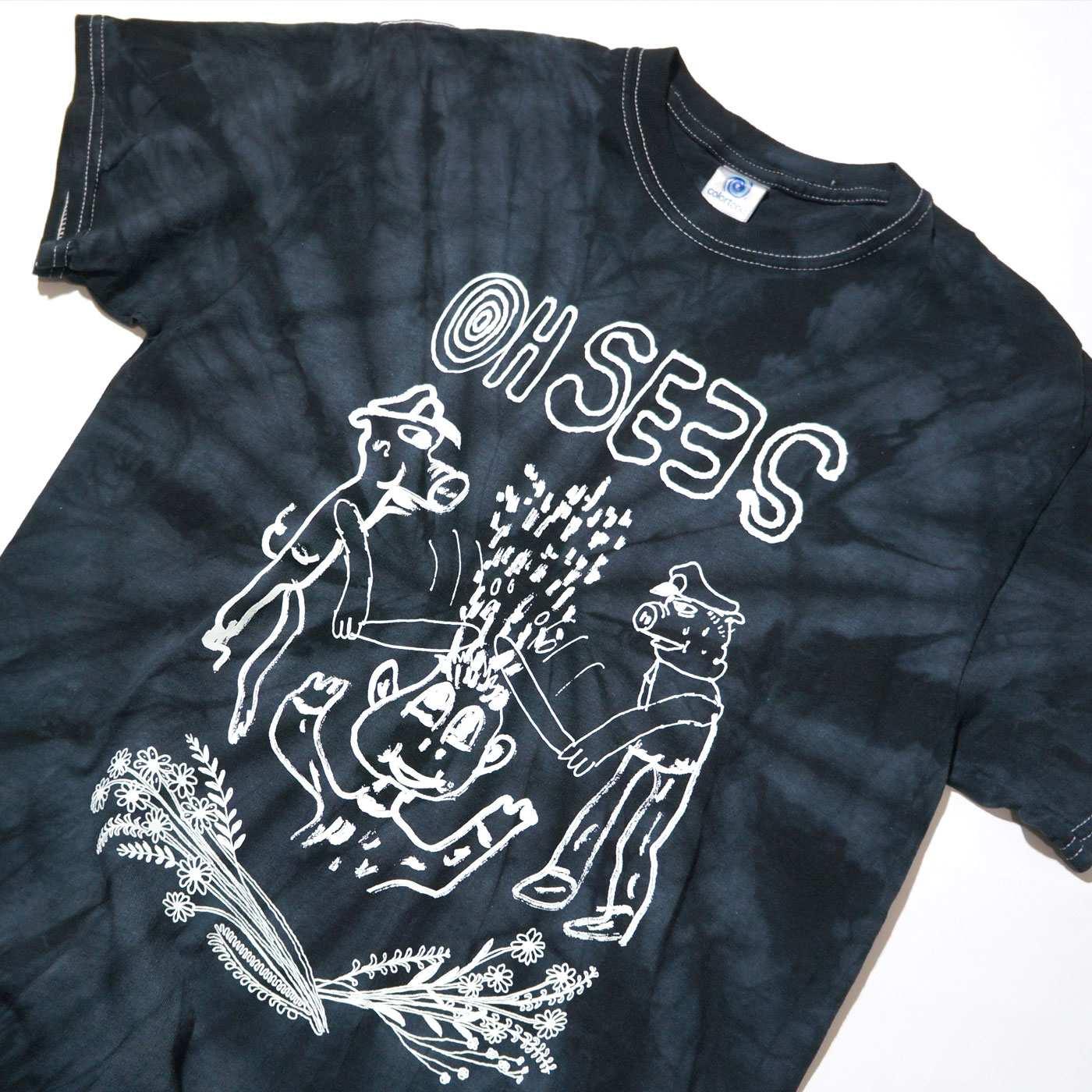 Oh Sees Tシャツ Joe Roberts/Pigs Tee - Black Tie Dye