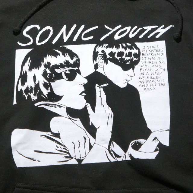 SONIC YOUTH パーカー ソニック・ユース Goo (Sleeves)-Black
