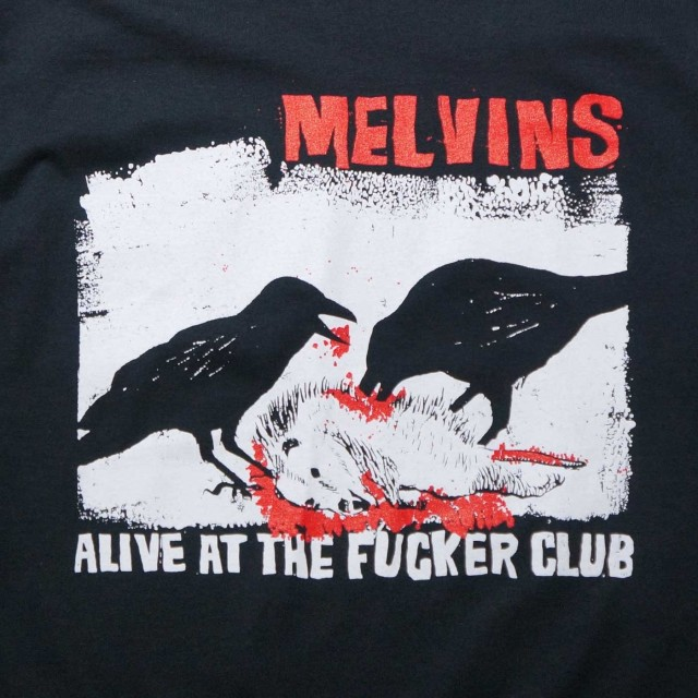 THE MELVINS Tシャツ Alive at Fucker Club-Black