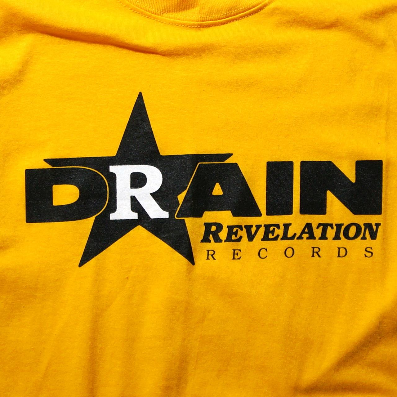 DRAIN ロングスリーブTシャツ Rev Logo-Yellow