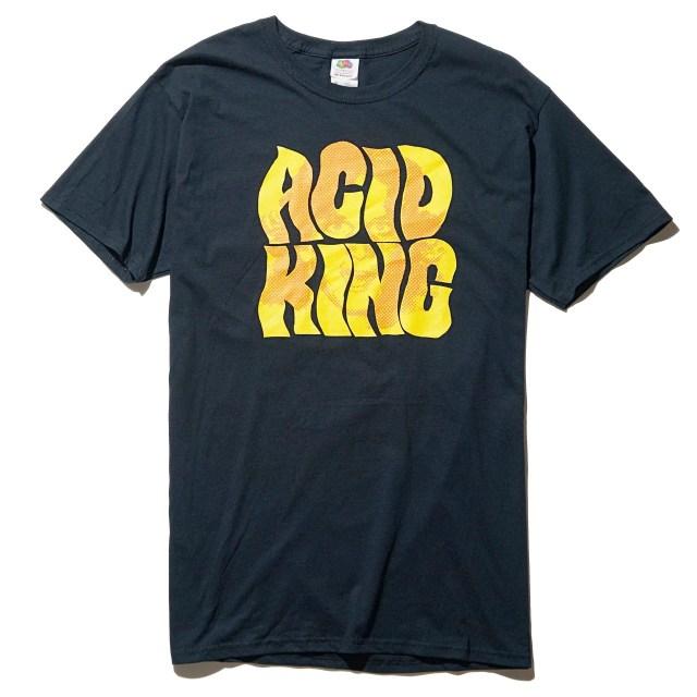 ACID KING アシッド・キング Tシャツ Ricky Old School-Black
