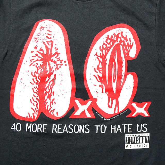 ANAL CUNT Tシャツ/40 More ReasonsTo Hate Us-Black