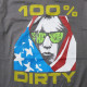 Sonic Youth Tシャツ 100% Dirty - チャコールグレー