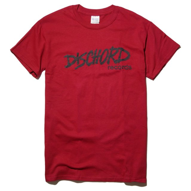 DISCHORD RECORDS(ディスコード) Tシャツ Old Logo -Cardinal RED/Black