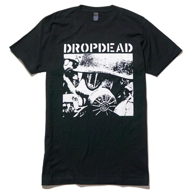 DROPDEAD バンド Tシャツ Gas Mask-Black