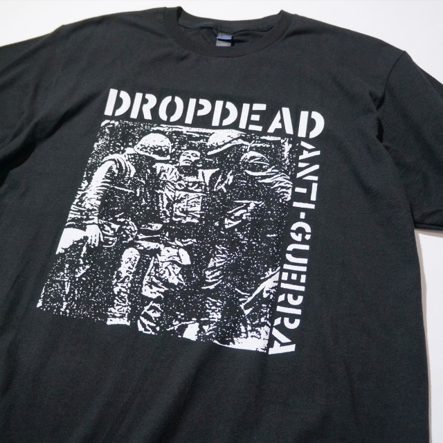 DROPDEAD バンド Tシャツ Anti-Guerra -Black