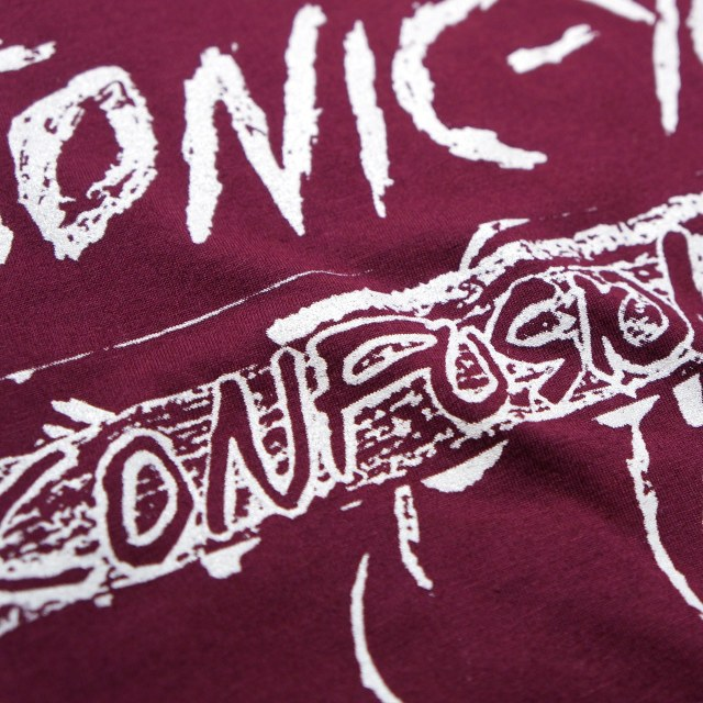 Sonic Youth Tシャツ Confusion Is Sex -Maroon