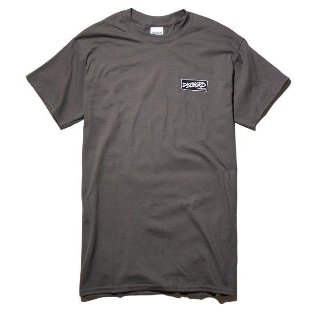 Dischord Records Tシャツ / Box Logo - チャコール Charcoal