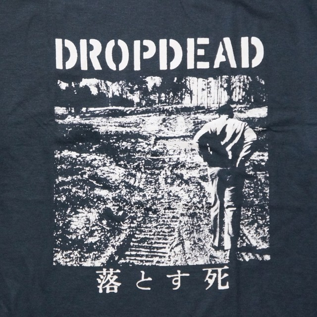 DROPDEAD バンド Tシャツ LP Cover-Black