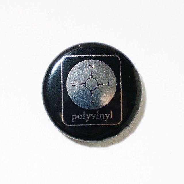 Polyvinyl 缶バッジ Compass Button-Black
