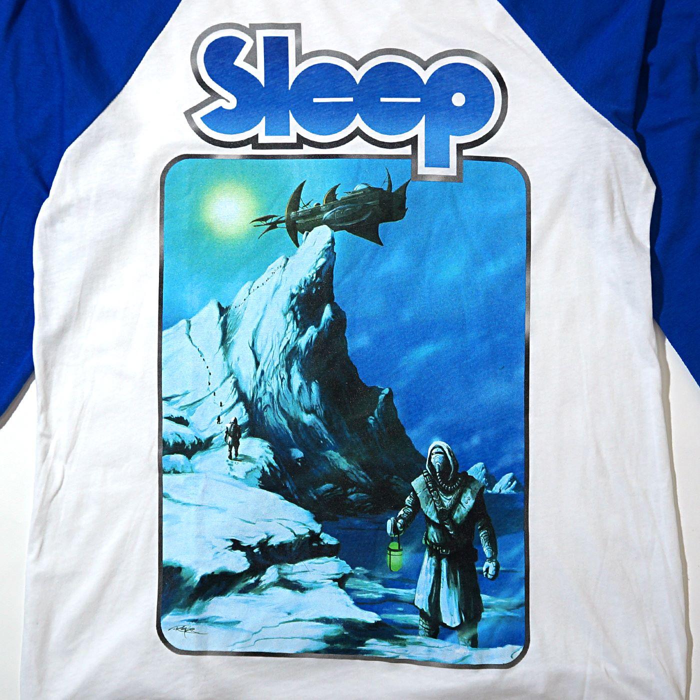 SLEEP ラグランTシャツ Antarcticans Thawed Wht/Blue