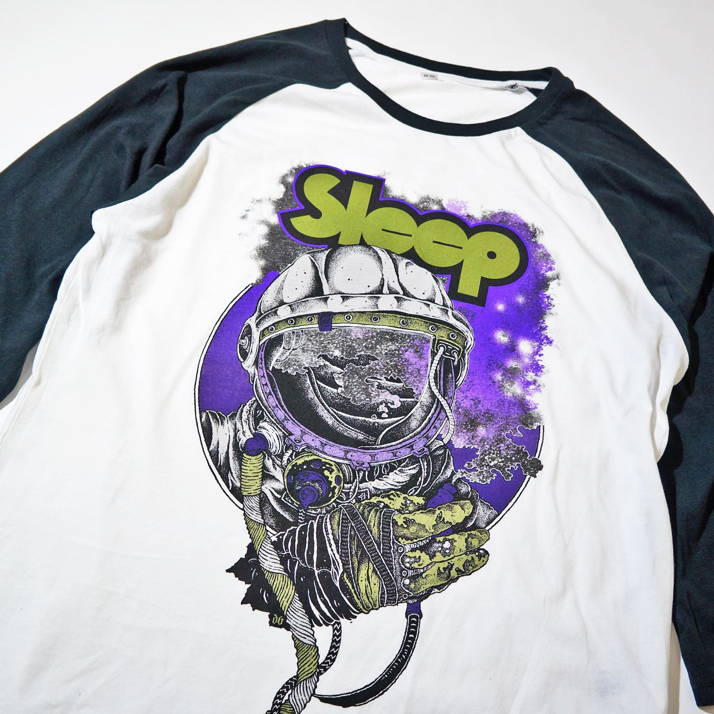 SLEEP ラグランTシャツ Escape Raglan-Wht/Blk