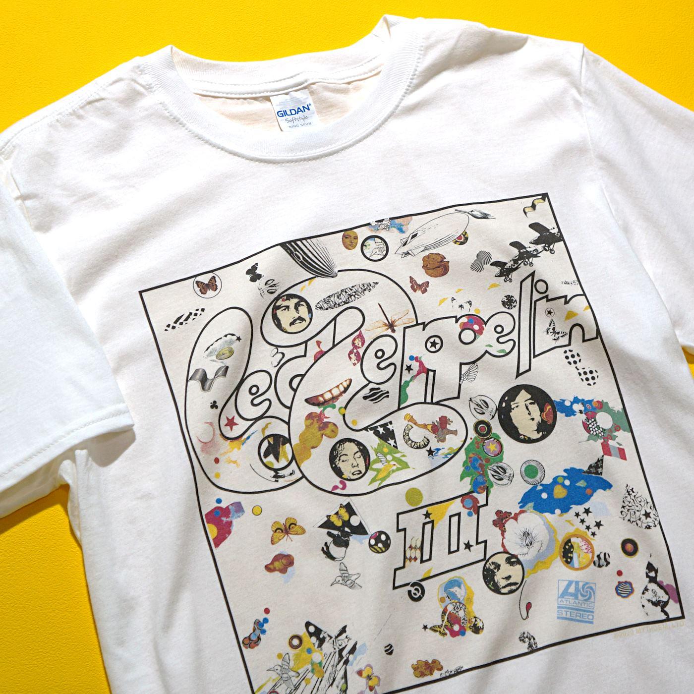 LED ZEPPELIN Tシャツ III Album-White