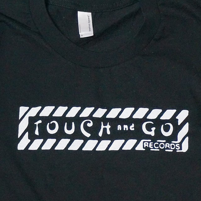 Touch and Go Records レーベル ロゴ Tシャツ / Black - Wht