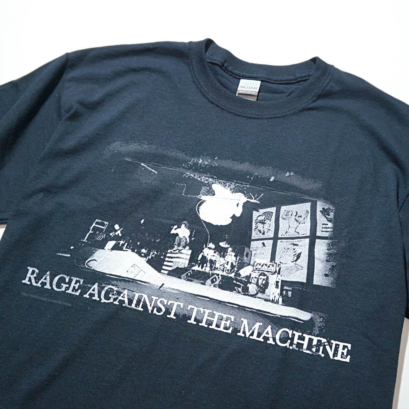 RAGE AGAINST THE MACHINE Tシャツ Live Jump-Black