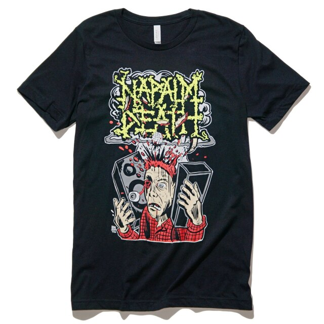 NAPALM DEATH Tシャツ Human Rights Through Ear Damage-Black