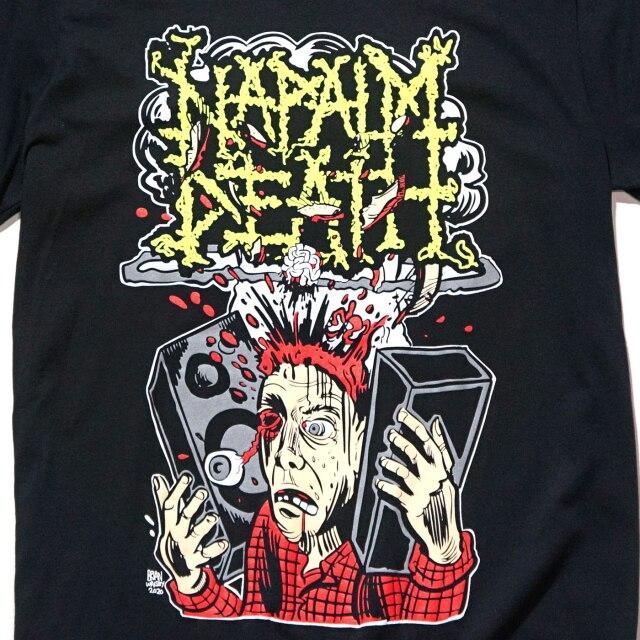 NAPALM DEATH Tシャツ Human Rights Through Ear Damage-Black
