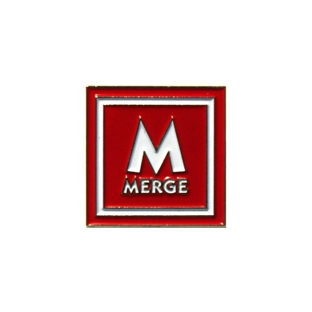 Merge Records エナメル・ピンバッジ Enamel Pin-Red