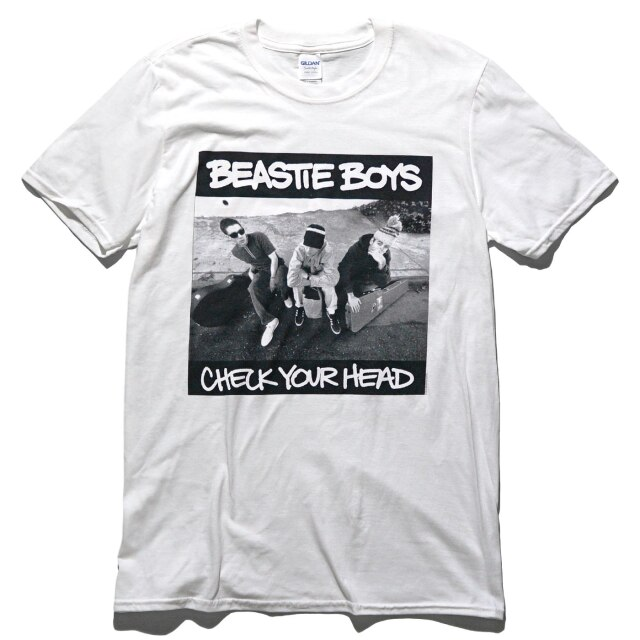 BEASTIE BOYS Tシャツ Check Your Head-White