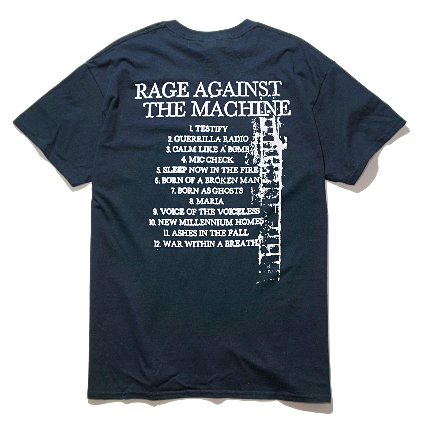 RAGE AGAINST THE MACHINE Tシャツ Bola Album Cover Trucks-Black