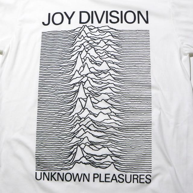 JOY DIVISION Tシャツ 公式 Unknown Pleasures-White