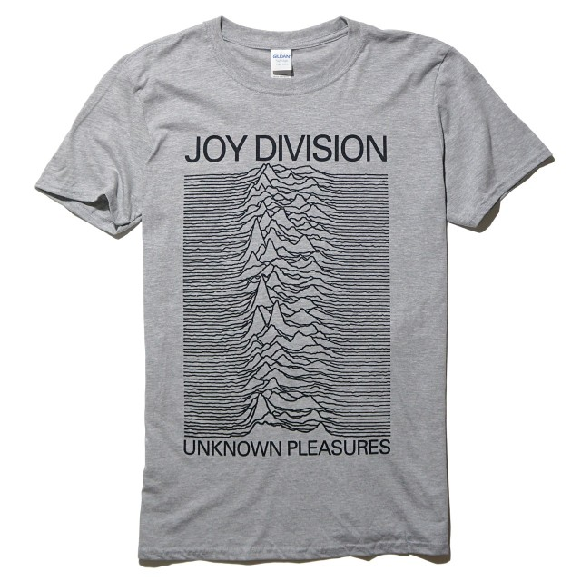 JOY DIVISION Tシャツ 公式 Unknown Pleasures-Grey