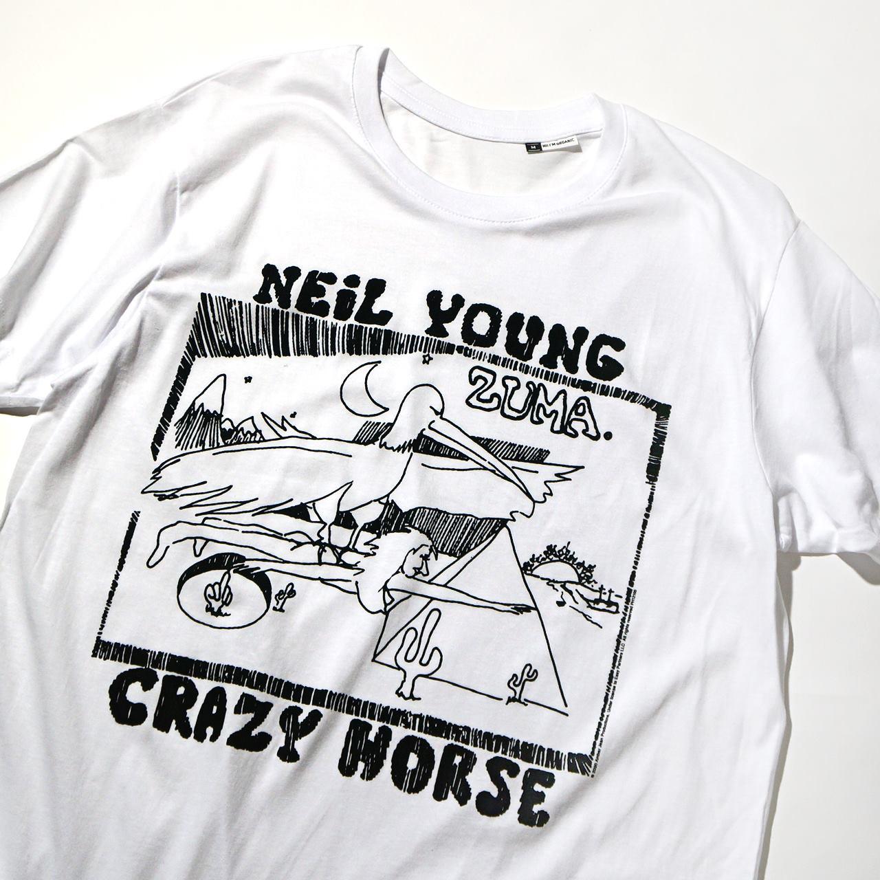 NEIL YOUNG ニール・ヤング Tシャツ Zuma-White