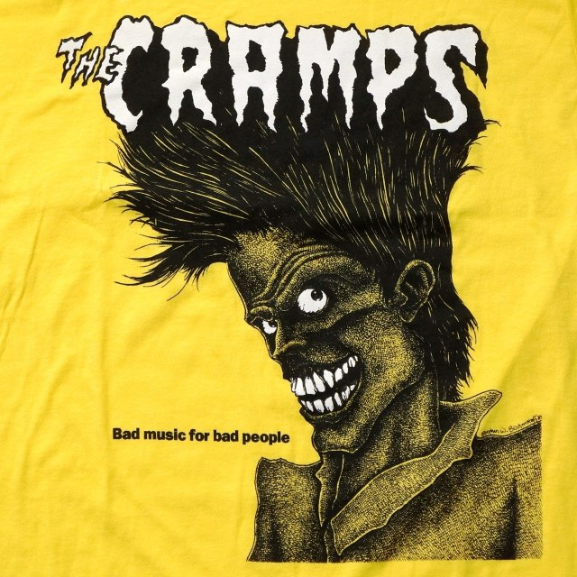 The CRAMPS Tシャツ ザ・クランプス Bad Music for Bad People - Yellow