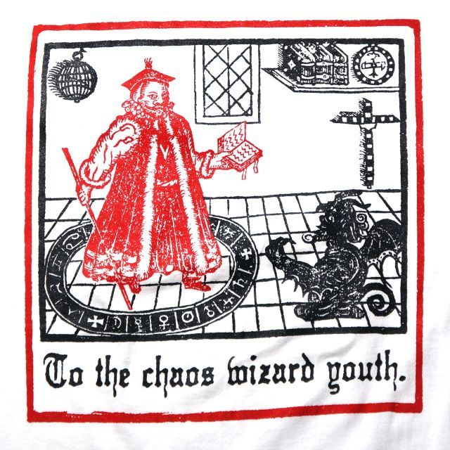 THOU Tシャツ Chaos Wizard-White
