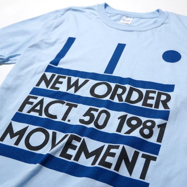 NEW ORDER Tシャツ 公式 Movement -Blue