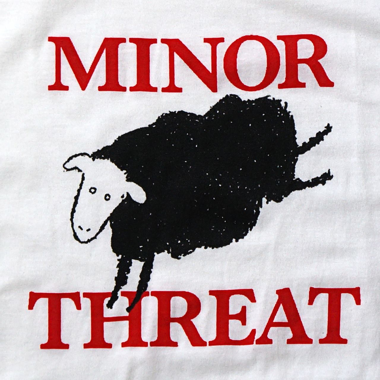 MINOR THREAT マイナースレット Tシャツ Black Sheep-White