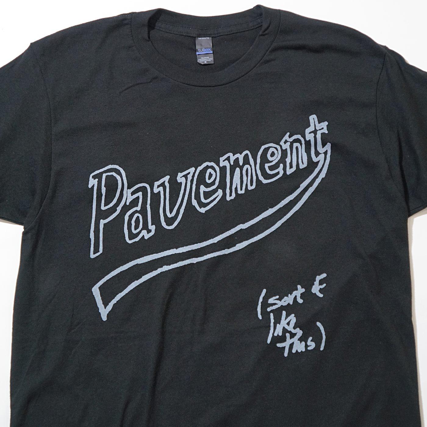 PAVEMENT Tシャツ Vintage Tour Dates-Black