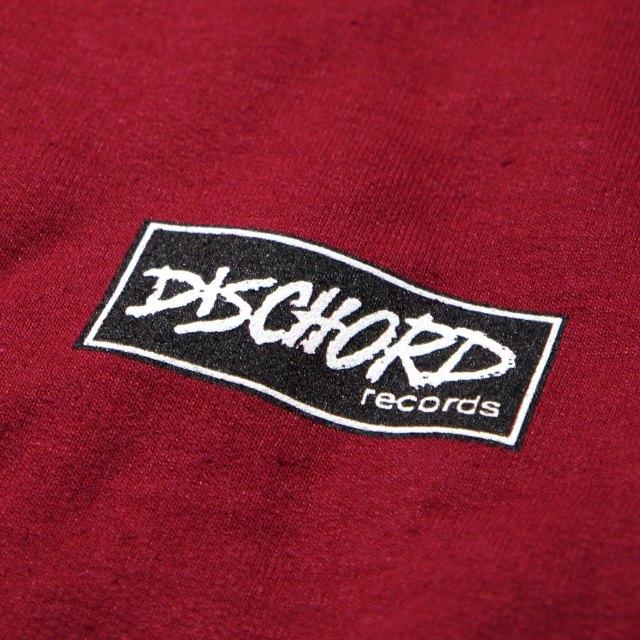 Dischord Records スウェットシャツ トレーナー Box Logo -Garnet