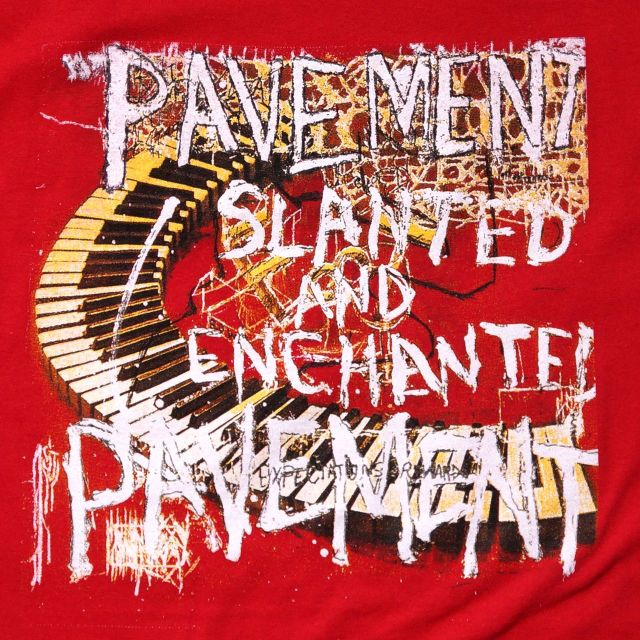 PAVEMENT (ペイヴメント) Tシャツ Slanted and Enchanted-Red