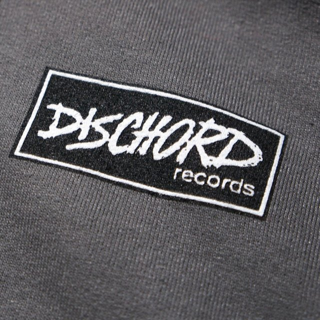Dischord Records スウェットシャツ トレーナー Box Logo -Charcoal