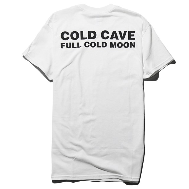 COLD CAVE Tシャツ Full Cold Moon -White