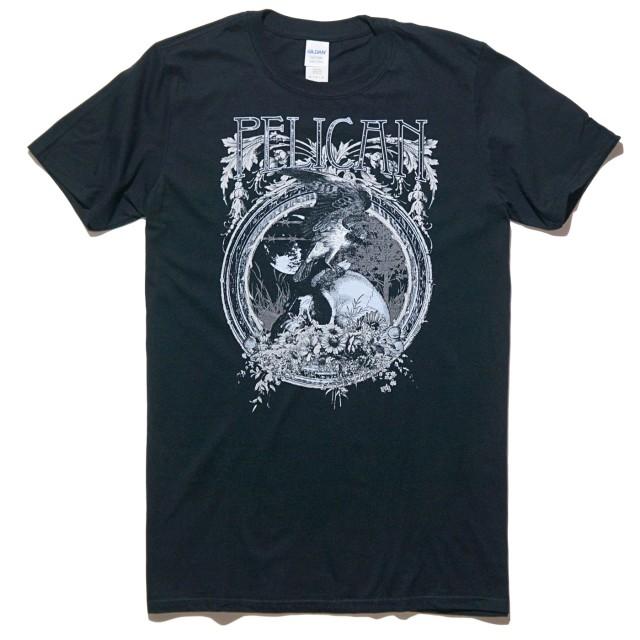 PELICAN (ペリカン) バンド Tシャツ Hawk Skull-Black