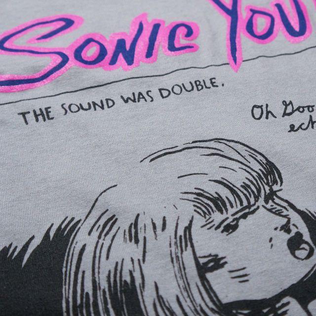 SONIC YOUTH Tシャツ Echo 半袖 - Grey