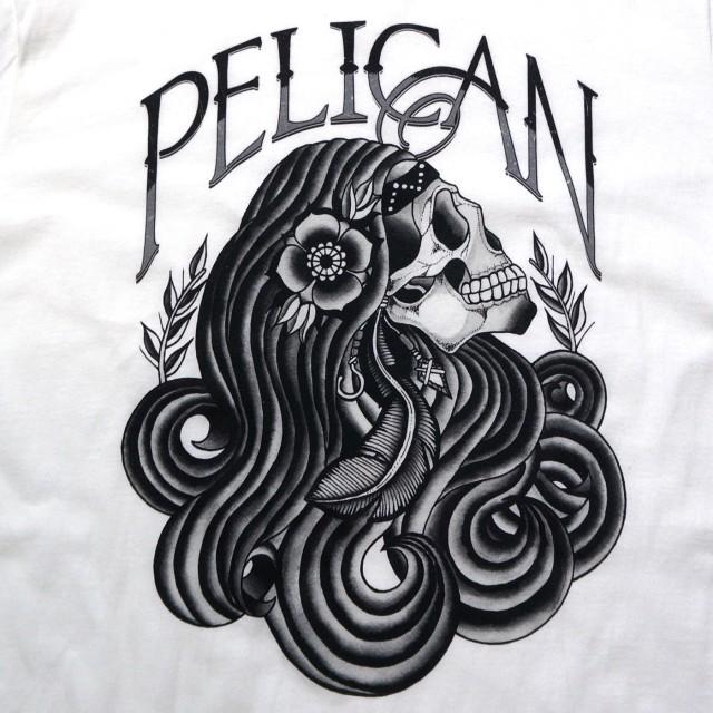 PELICAN (ペリカン) バンド Tシャツ Long Hair-White